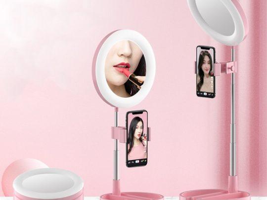 specchio led smartphone